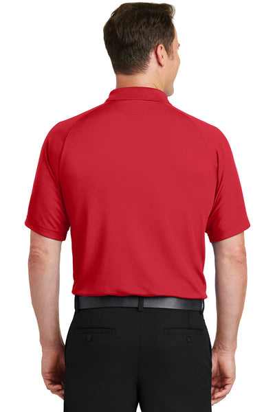 Sport-Tek T475 Mens Dry Zone Moisture Wicking Short Sleeve Polo Shirt Red Back