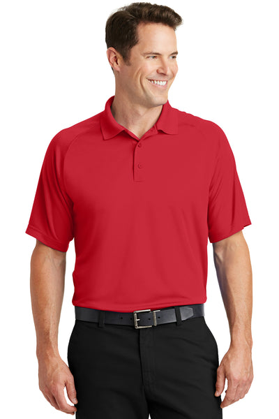 Sport-Tek T475 Mens Dry Zone Moisture Wicking Short Sleeve Polo Shirt Red Front