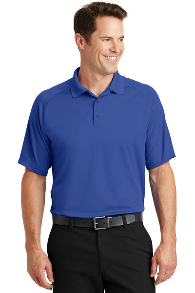 Sport-Tek T475 Mens Dry Zone Moisture Wicking Short Sleeve Polo Shirt Royal Blue Front