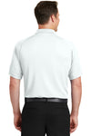 Sport-Tek T475 Mens Dry Zone Moisture Wicking Short Sleeve Polo Shirt White Back