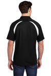 Sport-Tek T476 Mens Dry Zone Moisture Wicking Short Sleeve Polo Shirt Black Back