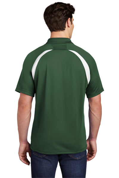 Sport-Tek T476 Mens Dry Zone Moisture Wicking Short Sleeve Polo Shirt Forest Green Back