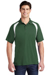 Sport-Tek T476 Mens Dry Zone Moisture Wicking Short Sleeve Polo Shirt Forest Green Front