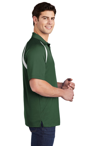Sport-Tek T476 Mens Dry Zone Moisture Wicking Short Sleeve Polo Shirt Forest Green Side