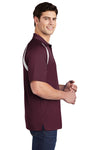Sport-Tek T476 Mens Dry Zone Moisture Wicking Short Sleeve Polo Shirt Maroon Side