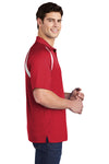 Sport-Tek T476 Mens Dry Zone Moisture Wicking Short Sleeve Polo Shirt Red Side