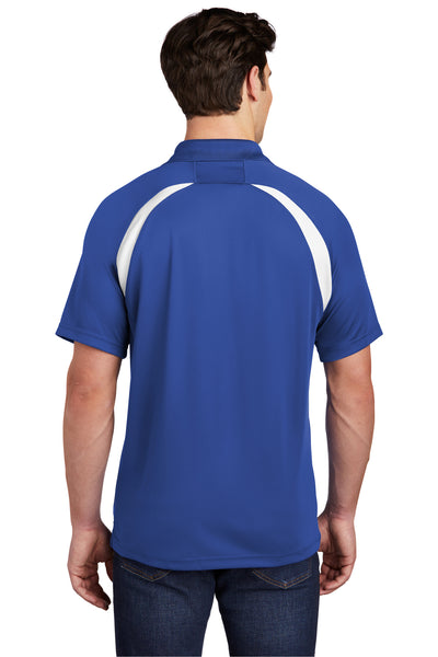 Sport-Tek T476 Mens Dry Zone Moisture Wicking Short Sleeve Polo Shirt Royal Blue Back