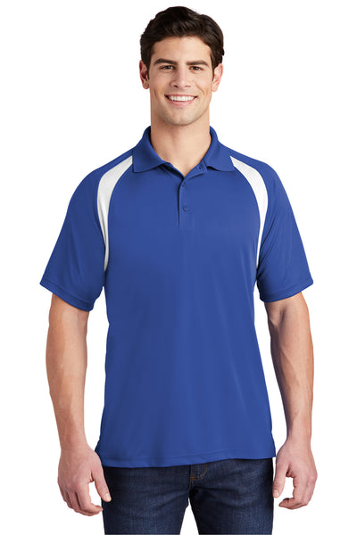 Sport-Tek T476 Mens Dry Zone Moisture Wicking Short Sleeve Polo Shirt Royal Blue Front