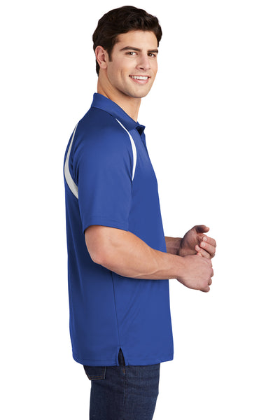 Sport-Tek T476 Mens Dry Zone Moisture Wicking Short Sleeve Polo Shirt Royal Blue Side