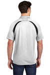 Sport-Tek T476 Mens Dry Zone Moisture Wicking Short Sleeve Polo Shirt White Back