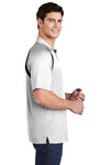 Sport-Tek T476 Mens Dry Zone Moisture Wicking Short Sleeve Polo Shirt White Side