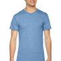 American Apparel Mens Athletic Blue Track Short Sleeve Crewneck T-Shirt