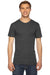 American Apparel TR401W Mens Track Short Sleeve Crewneck T-Shirt Black Front
