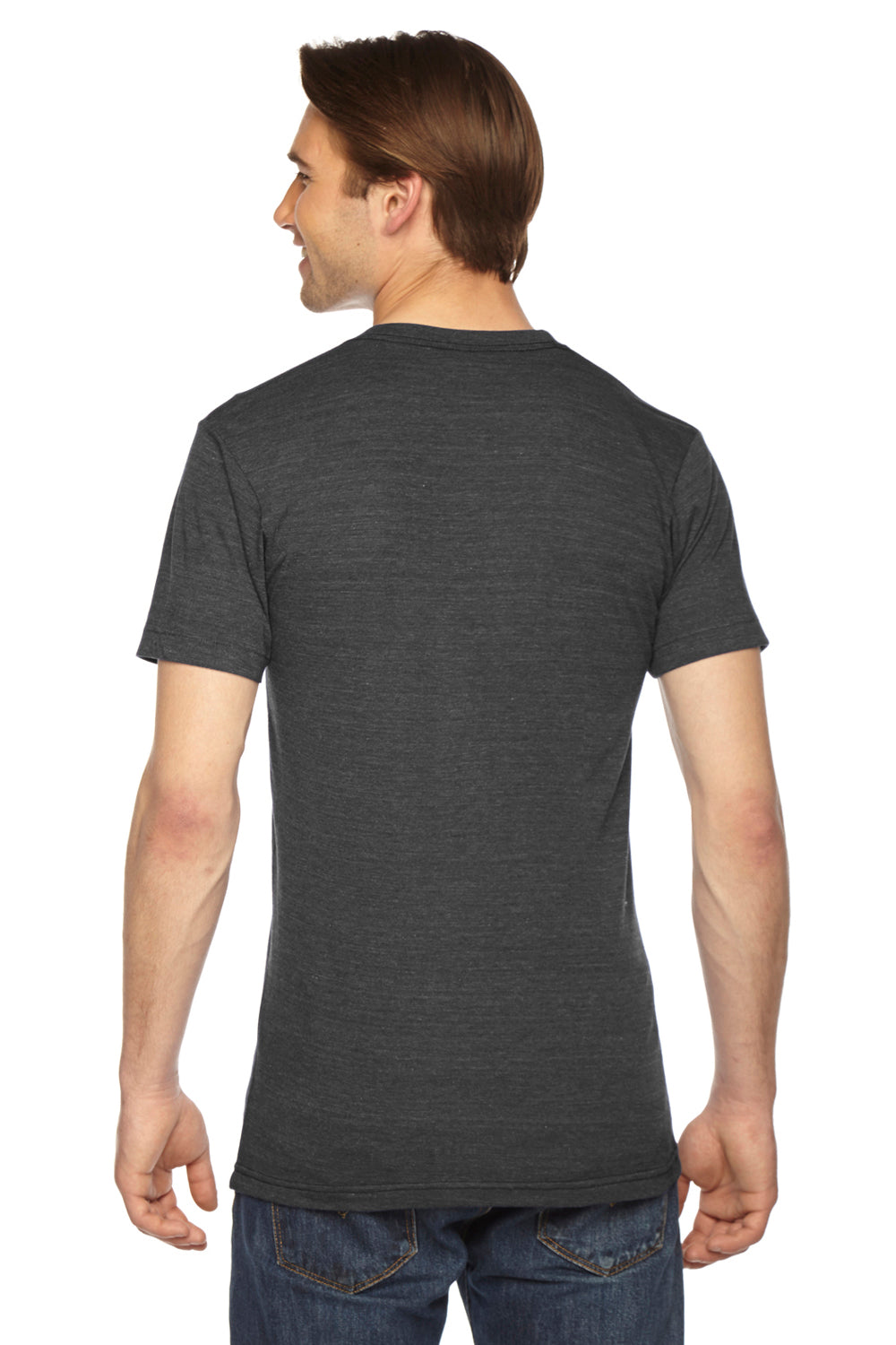 American Apparel TR401W Mens Track Short Sleeve Crewneck T-Shirt Black Back