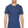 American Apparel Mens Indigo Blue Track Short Sleeve Crewneck T-Shirt