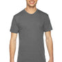 American Apparel Mens Athletic Grey Track Short Sleeve Crewneck T-Shirt