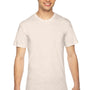 American Apparel Mens Oatmeal Track Short Sleeve Crewneck T-Shirt