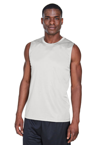 Team 365 TT11M Mens Zone Performance Muscle Moisture Wicking Tank Top Graphite Grey Front