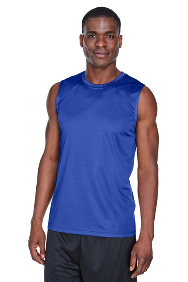 Team 365 TT11M Mens Zone Performance Muscle Moisture Wicking Tank Top Royal Blue Front