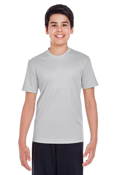 Team 365 TT11Y Youth Zone Performance Moisture Wicking Short Sleeve Crewneck T-Shirt Silver Grey Front