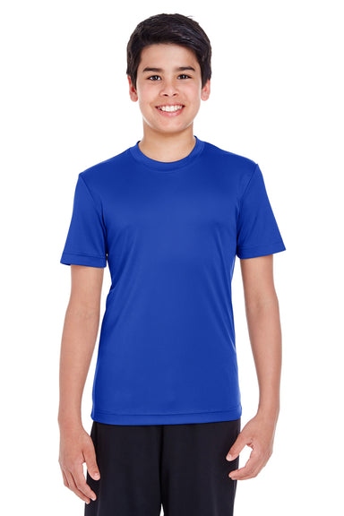 Team 365 TT11Y Youth Zone Performance Moisture Wicking Short Sleeve Crewneck T-Shirt Royal Blue Front