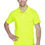 Team 365 Mens Command Performance Moisture Wicking Short Sleeve Polo Shirt - Safety Yellow