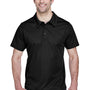 Team 365 Mens Command Performance Moisture Wicking Short Sleeve Polo Shirt - Black