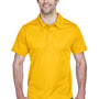 Team 365 Mens Command Performance Moisture Wicking Short Sleeve Polo Shirt - Athletic Gold