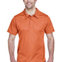Team 365 Mens Command Performance Moisture Wicking Short Sleeve Polo Shirt - Burnt Orange