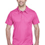 Team 365 Mens Command Performance Moisture Wicking Short Sleeve Polo Shirt - Charity Pink