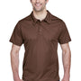 Team 365 Mens Command Performance Moisture Wicking Short Sleeve Polo Shirt - Dark Brown