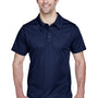 Team 365 Mens Command Performance Moisture Wicking Short Sleeve Polo Shirt - Dark Navy Blue