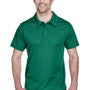 Team 365 Mens Command Performance Moisture Wicking Short Sleeve Polo Shirt - Forest Green