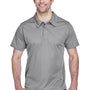 Team 365 Mens Command Performance Moisture Wicking Short Sleeve Polo Shirt - Graphite Grey