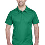 Team 365 Mens Command Performance Moisture Wicking Short Sleeve Polo Shirt - Kelly Green