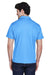 Team 365 TT21 Mens Command Performance Moisture Wicking Short Sleeve Polo Shirt Light Blue Back