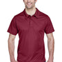 Team 365 Mens Command Performance Moisture Wicking Short Sleeve Polo Shirt - Maroon
