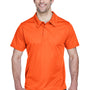 Team 365 Mens Command Performance Moisture Wicking Short Sleeve Polo Shirt - Orange