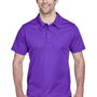 Team 365 Mens Command Performance Moisture Wicking Short Sleeve Polo Shirt - Purple