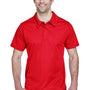 Team 365 Mens Command Performance Moisture Wicking Short Sleeve Polo Shirt - Red