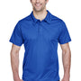 Team 365 Mens Command Performance Moisture Wicking Short Sleeve Polo Shirt - Royal Blue