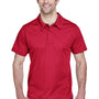 Team 365 Mens Command Performance Moisture Wicking Short Sleeve Polo Shirt - Scarlet Red