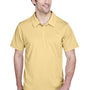 Team 365 Mens Command Performance Moisture Wicking Short Sleeve Polo Shirt - Vegas Gold