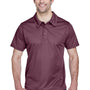 Team 365 Mens Command Performance Moisture Wicking Short Sleeve Polo Shirt - Dark Maroon