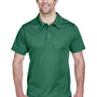 Team 365 Mens Command Performance Moisture Wicking Short Sleeve Polo Shirt - Dark Green