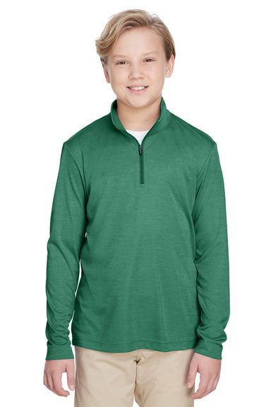 Team 365 TT31HY Youth Zone Sonic Performance Moisture Wicking 1/4 Zip Sweatshirt Forest Green Front