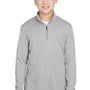 Team 365 Youth Zone Sonic Performance Moisture Wicking 1/4 Zip Sweatshirt - Heather Grey
