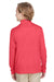 Team 365 TT31HY Youth Zone Sonic Performance Moisture Wicking 1/4 Zip Sweatshirt Red Back