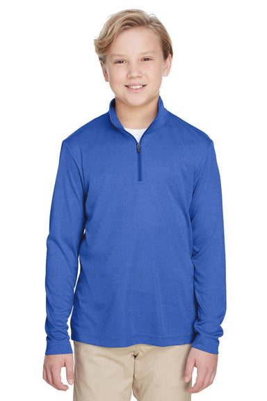 Team 365 TT31HY Youth Zone Sonic Performance Moisture Wicking 1/4 Zip Sweatshirt Royal Blue Front