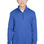 Team 365 Youth Zone Sonic Performance Moisture Wicking 1/4 Zip Sweatshirt - Heather Royal Blue